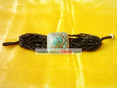 Tibet Natural Coral Song Stone Hand Chain 3