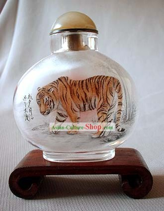 Snuff Bottles With Inside Painting Chinese Zodiac Series-Tiger1