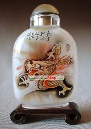 Snuff Bottles With Inside Painting Chinese Zodiac Series-Dragon 1
