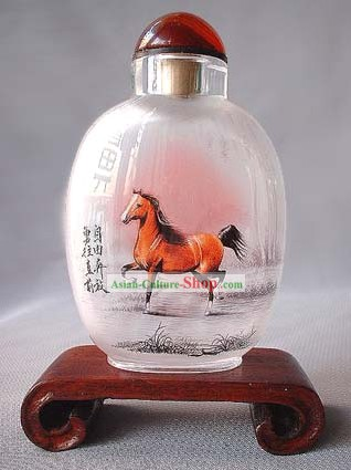 Snuff Bottles With Inside Painting Chinese Zodiac Series-Horse 1