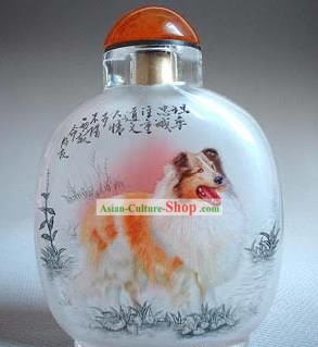 Snuff Bottles With Inside Painting Chinese Zodiac Series-Dog 1