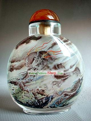Snuff Bottles With Inside Painting Chinese Animal Series-Dragon