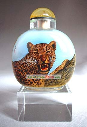Snuff Bottles With Inside Painting Chinese Animal Series-Catamount