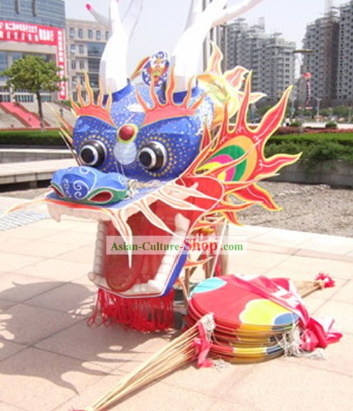 Supreme Super Large Chinese Hand Made and Painted Weifang Dragon Kite Complete Set