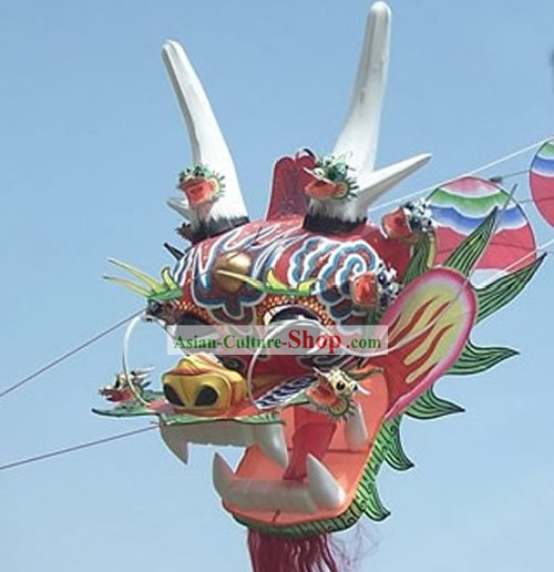 1969 Inches Super Large Chinese Hand Made and Painted Kite - 9 Dragons