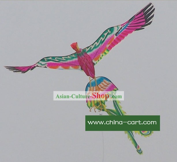 Large Chinese Traditional Hand Made and Painted Phoenix Kite