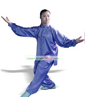 Chinese Classic Martial Arts and Tai Chi Suit (blue)