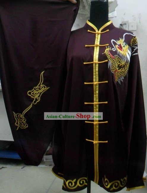 Silk Changquan Long Fist Dragon Kung Fu Practice Uniform for Men