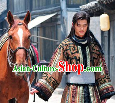 Hua Mulan Legend Mongolian Tribe Prince Clothes Complete Set for Men
