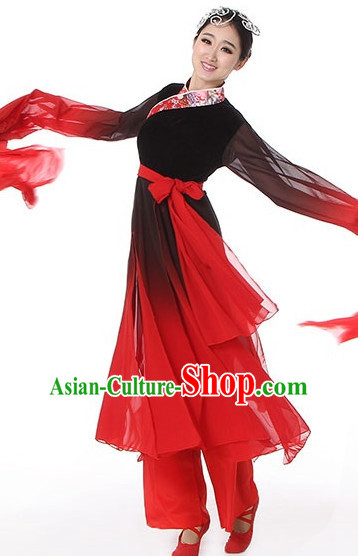 38a7d1cbf Asian Chinese Fan Dancing Costume Dance Attire and Hair Accessories ...