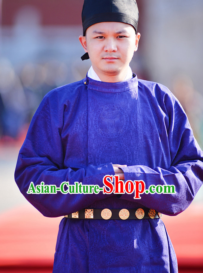 f1d4ec1f1 Tang Dynasty Ancient Chinese People Garments and Headpieces Complete Set  for Men
