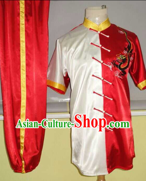 Top Red Dragon Embroidery Martial Arts Championship Competition Uniforms