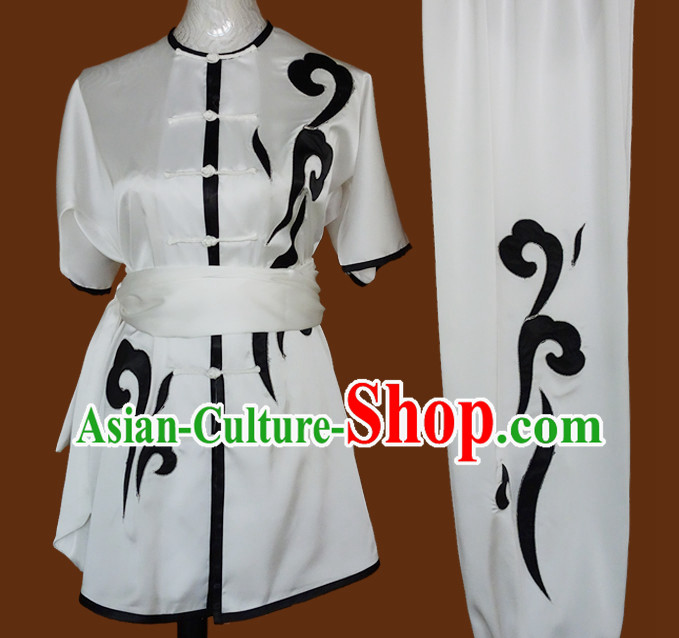 China Folk Wing Chun Kung Fu Wooden Dummy Practice Clothes