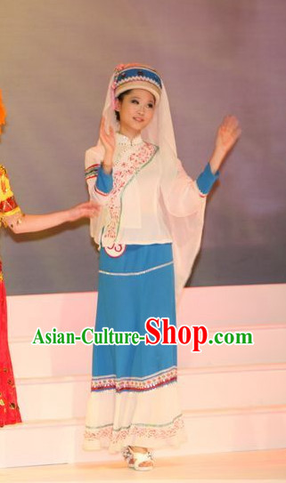 Oriental Clothing Chinese Women Traditional Clothing Ethnic Plus Size Clothes and Hat online