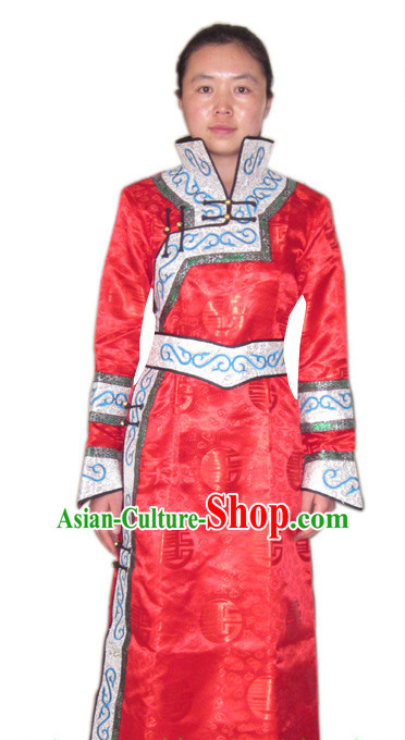 69427d828dd Chinese Ancient Mongolian Emperss Costumes and Hat Complete Set for ...