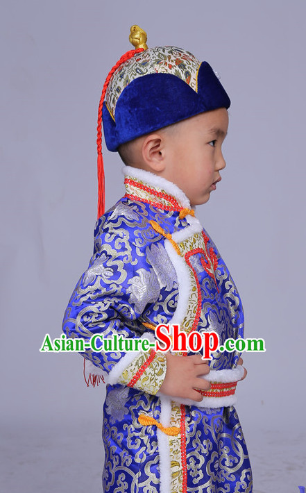 b7c96d3a83f Traditional Chinese Mongolian Dress and Hat Complete Set Kids