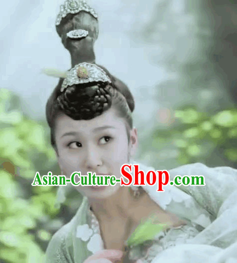 Ancient Chiense Black Fairy Wigs and Hair Accessories