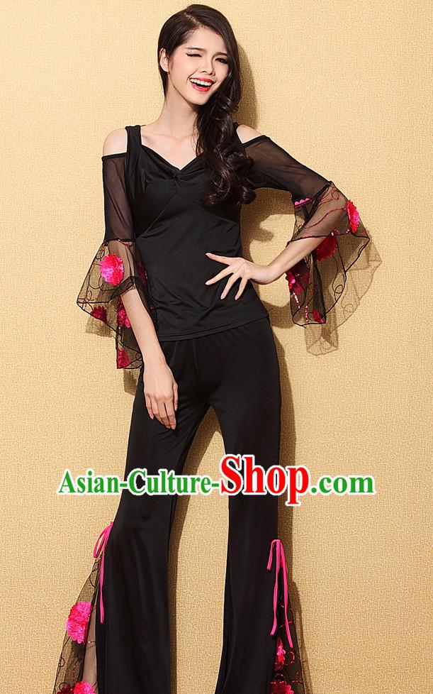 b666b67bf019 Chinese Sexy Modern Dance Costume Discount Dance Gymnastics Leotards  Costume Ideas Dancewear Supply Dance Wear Dance
