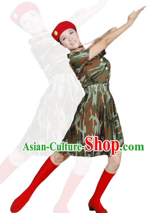 8684ed82a04bd China Army Dance Costume Ideas Dancewear Supply Dance Wear Dance Clothes  Suit