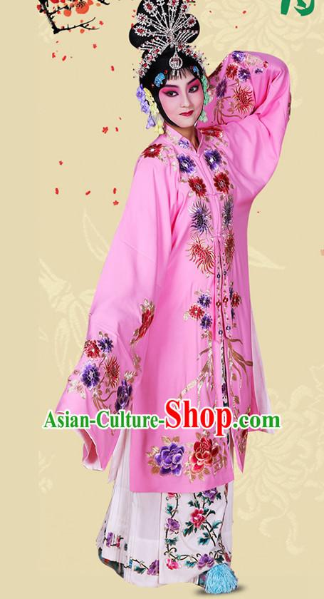 4026599f8 Blue Ancient Chinese Beijing Opera Costumes Peking Opera Young Women Costume  for Women Girls Adults Kids