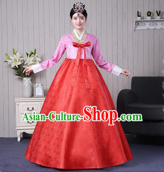 Korean Traditional Costumes Korean Women Clothes Wedding Full Dress Formal Attire Ceremonial Clothes Court Stage Dancing