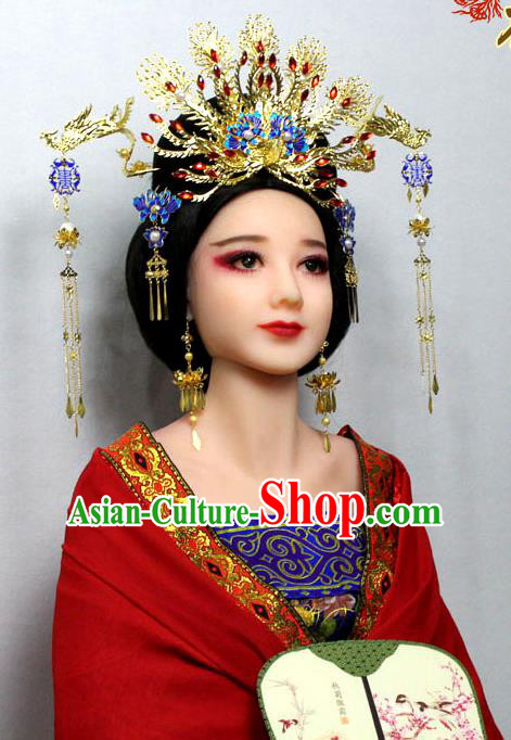 f7b30e594b6 Tang Dynasty Empress Phoenix Accessories and Wig
