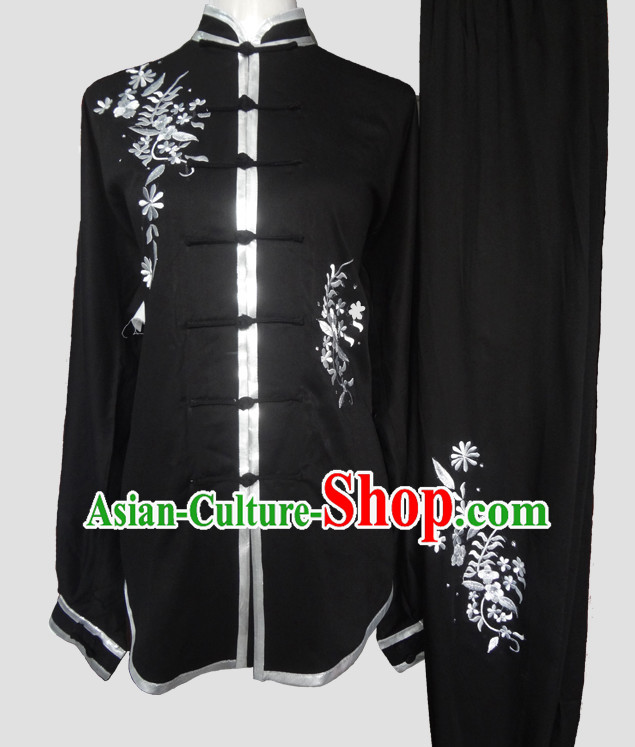 Chinese Traditional Kung Fu Red Costumes Martial Arts Tai