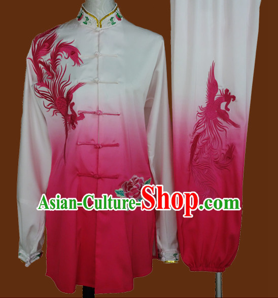 Top Mandarin Tai Chi Taiji Kung Fu Martial Arts Competition Uniforms Dresses Suits Outfits for Adults