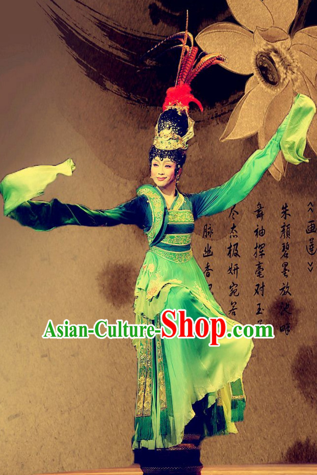 Ancient Chinese Tang Dynasty Empress Garment and Hair Accessories Complete Set