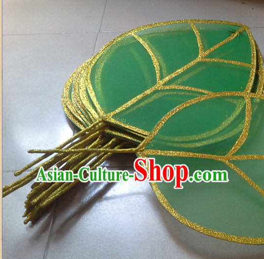 Big Beautiful Handmade Green Leaf Stage Performance Dance Props Dancing Prop Decorations
