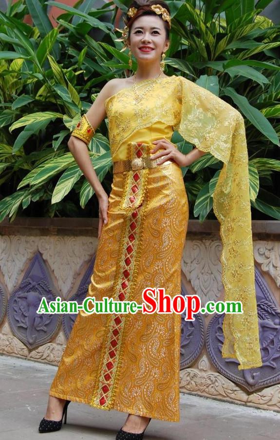 4f1c882439b Traditional National Thai Dress Thai Traditional Dress Dresses Wedding Dress  online for Sale Thai Clothing Thailand