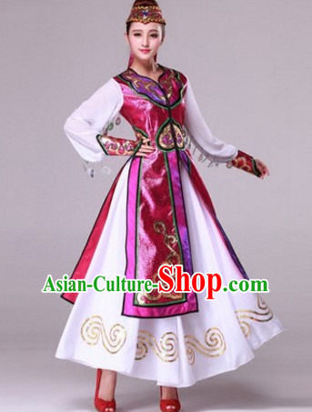 3ea778d4d Traditional Chinese Photo Costume Mongolian Long Robe and Hat ...