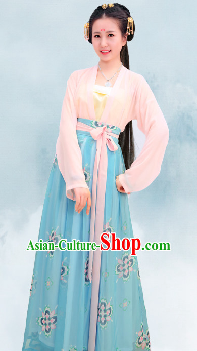 670405e56 Top Chinese Han Dynasty Beauty Princess Hanfu Clothing Chinese Hanfu  Costume Hanfu Dress Ancient Chinese Costumes and Hair Jewelry Complete Set  for Women ...