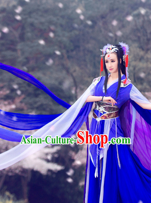b64aa1148 Ancient Chinese Princess Clothing and Hair Accessories Complete Set for  Women Girls Kids Adults