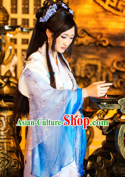 7369587d6 Ancient China Princess Garment Traditional Costumes High Quality Chinese  National Costumes and Accessories Complete Set for