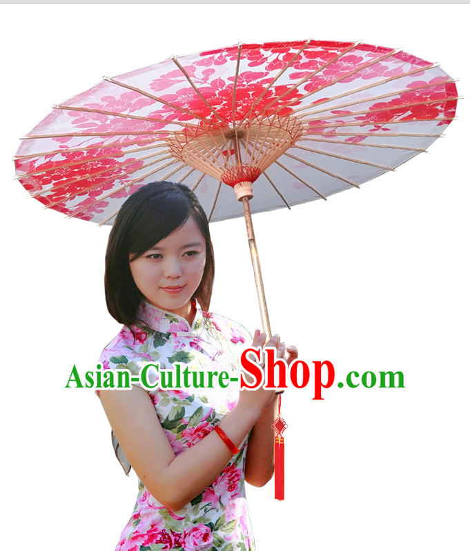 Asian Dance Umbrella Chinese Handmade Red Leaf Umbrellas Stage Performance Umbrella Dance Props