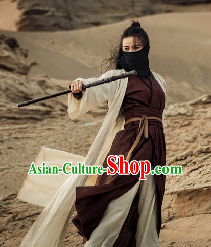 Chinese Ancient Han Fu Costume Men/'s Traditional Hanfu Suits Cosplay Costumes