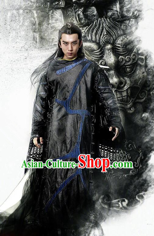 Traditional Chinese Southern and Northern Dynasties Swordsman Clothing, Asian China Ancient Kawaler Costume for Men