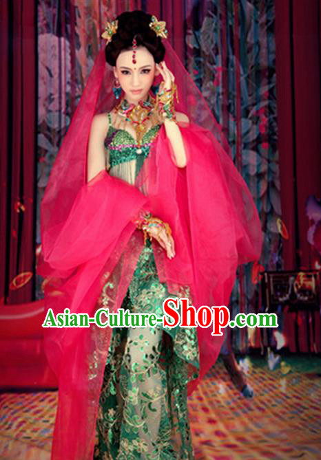 Traditional Ancient Indian Costume, Indian Princess Clothing for Women