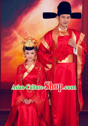 58221091d1 Traditional Ancient Chinese Imperial Consort and Emperor Wedding Costume  Set