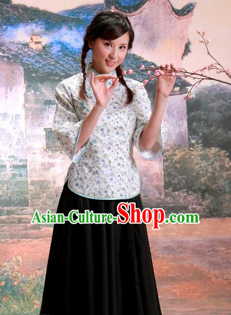 Traditional Ancient Chinese Female Costume, Young Lady Hanfu Dress Republic of China Clothing for Women