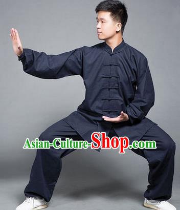 Top Grade Kung Fu Navy Costume Martial Arts Training Gongfu