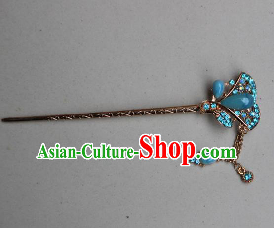 Traditional Chinese Miao Ethnic Minority Palace Hair Jewelry Accessories, Hmong Handmade Tassel Hairpins, Miao Ethnic Jewelry Accessories Hair Claw for Women