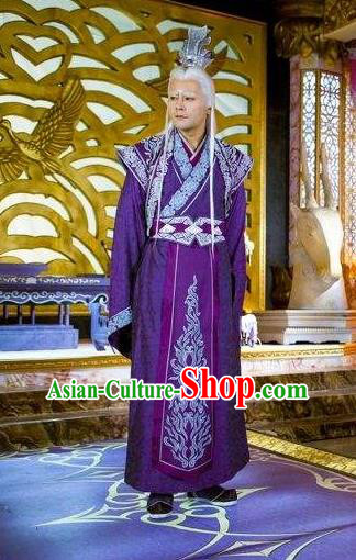 China Classical Blacks Flax/&Cotton HanFu Han Dynasty Cosplay Costume Hand made