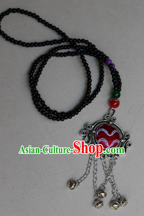 Traditional Chinese Miao Nationality Necklace, Hmong Folk