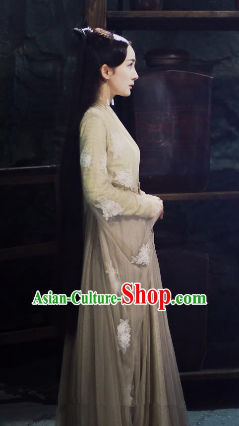 bdf5baf56 Traditional Ancient Chinese Myth Fairy Costume, Elegant Hanfu Palace Lady Dance  Dress, Chinese Teleplay Ten great III of peach blossom Role Bai qian Han ...