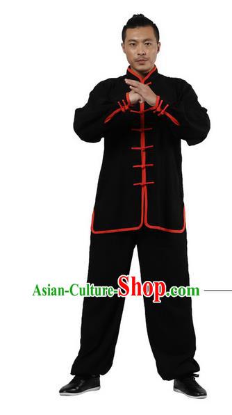 Black Chinese Classical Tai Chi Wushu Martial Arts Uniform