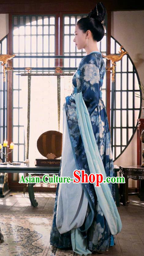 47a57b30e Traditional Chinese Ancient Tang Dynasty Imperial Consort Costumes and  Handmade Headpiece Complete Set, China The