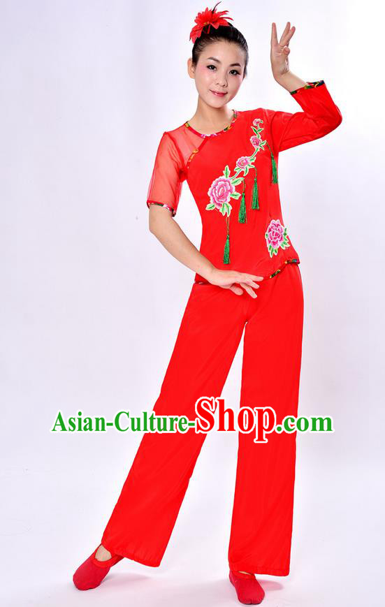 29ed118ee Traditional Chinese Classical Yangge Dance Embroidered Costume