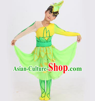 1793c3ef2 Chinese Classic Yangge Dance Costumes and Headpiece for Kids
